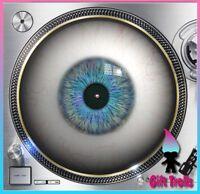 "Blue Eye Ball #2 Turntable Slipmat - 12"" LP Record Player, DJ"