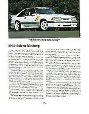 1989 Saleen Mustang Article - Must See !!