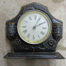 Antique Decorative Mantle Clock Metal Charles Stahlberg Westclox pat. 9.22.1885