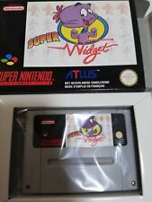 New Super Widget - SNES Super Nintendo French FAH Completed Unopened Famico