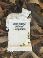 Pet Cat Memorial Stone Garden Remembrance Sculpture Kitty Engraved Figurine