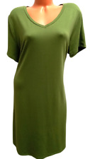 New listing Time and tru green short sleeves v neck stretch plus size t shirt dress XXXL