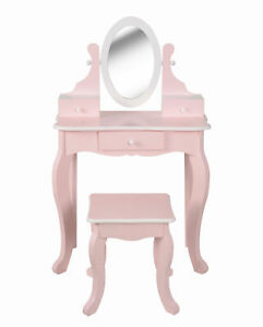 Fantasy Fields Kids Vanity Set Dressing Table With Mirror Girls Pink KY-189402