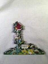 Stop and Smell the Flowers Garden, Birdhouse, Angels Sheila Shelf Sitter