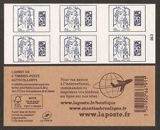 FRANCE 2015 Carnet Adhésif BC 1176-C1 MARIANNE EUROPE DATAMATRIX NEUF**NON plié