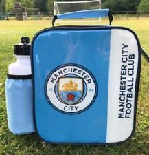 Manchester City FC Vertical Lunch Bag/Box and 600ml Bottle Set   Lunchbox
