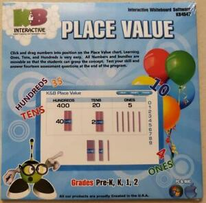 Interactive Whiteboard Software - Place Value K&B KB4547 NEW 2011 for PC & MAC