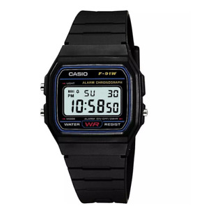 Casio F-91W-1 Wrist Watch For Men Digital Quartz Sport Classic New