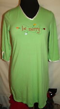 $10 SHIRT SALE WOW! Green Christmas lights cotton night small gown sleep pajama