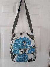 Jujube Diaper Bag & Changing Pad, Lot Storage, Easy Clean, Blue Green Satin Trim