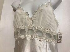 Linea Donatella Sz Medium Bridal Gown Ivory Embellished Lace Satin Polyester NWT