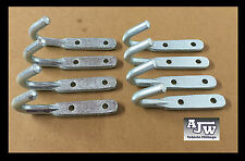 8 x Heavy Duty Large Rope Hooks Zinc Plated Steel Trailers Trucks Tippers