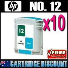 10x Cyan Ink for HP 12 C4804A Business Inkjet 3000 3000n 3000dtn