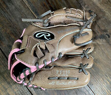 """Rawlings Fastpitch 11"""" Softball Glove FP110 Right Hand Throw Pink&Brown Freeship"""
