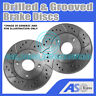 2x Drilled and Grooved 4 Stud 257mm Vented OE Quality Brake Discs(Pair) D_G_2509