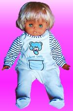 Süßes Baby-Set Strampler + Pulli, beige/blau, Gr. 62/68