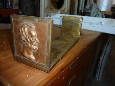 UNIQUE bronze ABRAHAM LINCOLN book end stand ~ extends NICE profile 15 x 5 x 5""