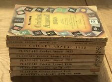 10 x Playfair Cricket Annuals 1950-1959