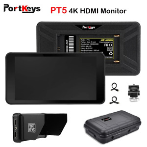 """Portkeys PT5 5"""" 4K Touch Screen Video Monitor HDMI Camera Field Monitor For DSLR"""