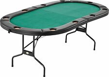 Fat Cat Folding Texas Hold 'em Poker/Casino Game Table, Cushioned Rail 10 player