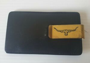 RM Williams Black Leather Credit Card Holder and Gold Money Clip