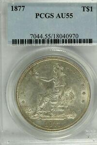 1877 Trade Dollar : PCGS AU55