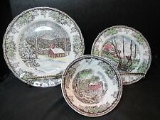 Johnson Brothers The Friendly Village 3 Piece Set Dinner, Salad, Cereal