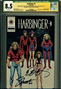 "HARBINGER #6 CGC 8.5 3X SIGNED SHOOTER, LAYTON, JACKSON! ""DEATH OF TORQUE!"""