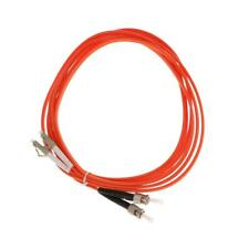 10ft Meters Duplex MultiMode Fiber Optic Wire Cable Cord ST to LC Orange