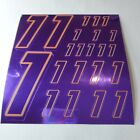 PURPLE CHROME /GOLD #1's Decal Sticker Sheet DEFECTS  1/8-1/10-1/12 RC Mo BoxD