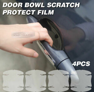 Door Handle Cup Anti Scratch Clear Paint Protector Film 4p For Chevrolet Express