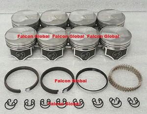 Chevy 7.4/454 SPEED PRO Hypereutectic 20cc Dome Pistons+MOLY Rings Set/Kit +.060