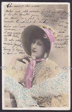 LIANE DE POUGY 01 ARTISTA ARTISTE BELLE EPOQUE Cartolina FOTOGR. viaggiata 1904