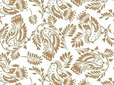 Taupe Birds & Leaves on White Background Tissue Paper # 275 ...10 large sheets