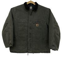 Carhartt C26 MOS Men's Canvas Duck Jacket 2XL Tall Green Artic Nylon Quilt Lined