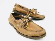 Sperry Top Sider Brown Leather Boat Shoes Mens Size 11
