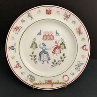 Johnson Brothers England 12 Days of Christmas Plate 9 Ladies Dancing 8.5""