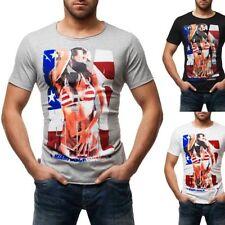 Herren-Freizeithemden & -Shirts mit Rundhals-Ausschnitt in Plusgröße