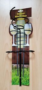 Outdoor Wine & Glass Holders Holds A Standard Bottle Of Wine & Two Glasses NEW