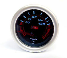 Universal Smoked Face Oil Temp /Temperature gauge supplied with 1/8npt Sensor