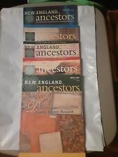 New England Ancestors Magazines 5 Issues 2002 Complete Genealogy Family History