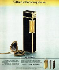 PUBLICITE ADVERTISING 036  1978  Ronson  briquet Banker