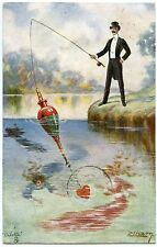 ILLUSTRATEUR ELLAM. THE GENTLE ART OF ANGLING. AMOUR. L'ART DE PECHE EN DOUCEUR.