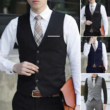 Men's Formal&Casual Business Dress Vest Suit Slim Tuxedo Waistcoat Coat M - 3XL