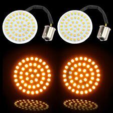"""2"""" Amber Bullet LED Turn Signal Light Inserts 1156 For Harley Softail Sportster"""