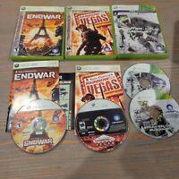 Lot of 3 Xbox 360 Tom Clancy Games Splinter Cell Blacklist Endwar Rainbow Vegas