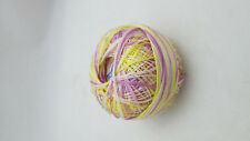 1 Spool vintage Size 70 Tatting Cotton - Variegated Purple & Yellow #169