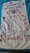 VINTAGE BOWLING TOWEL - BOWLERS WEEPING TOWEL 1950's