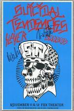 "Suicidal Tendencies autographed gig poster Mike ""Cyco Miko"" Muir, Dean Pleasants"