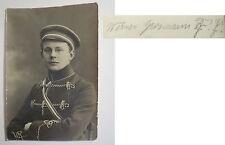 Werner Grosmann mit 2 Zirkeln - August 1914 - Couleurbild / Studentika